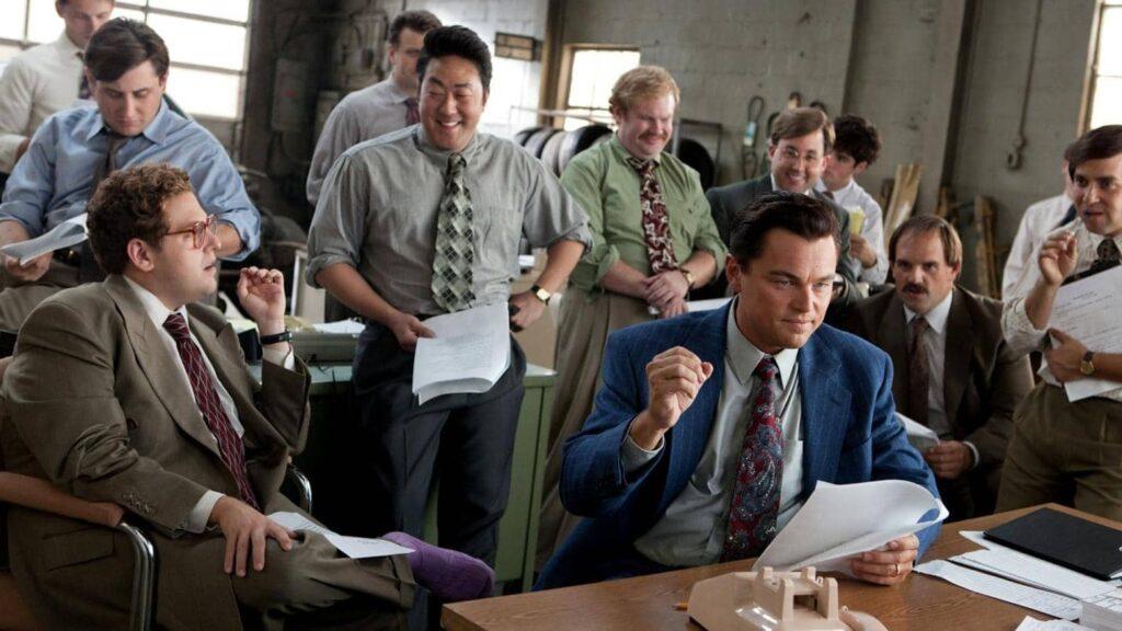 Wolf of Wall Street movie scene